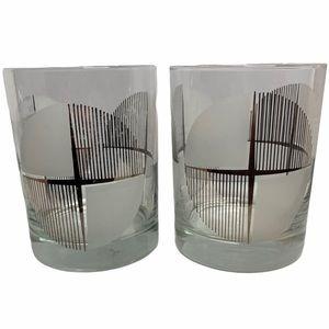 VTG Georges Briard MidMod Silver Cross Glasses